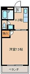 シャトレM's弐番館 1階1Kの間取り