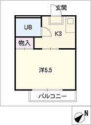 アポアール[2階]の間取り