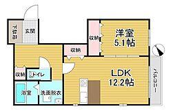仮称)鶴見区シャーメゾン今津北5丁目計画 1階1LDKの間取り