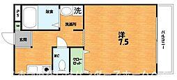 大阪府枚方市宮之阪3の賃貸マンションの間取り