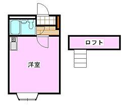 ラフィネ常盤平[2階]の間取り