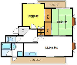 コーポウィステリア[4階]の間取り