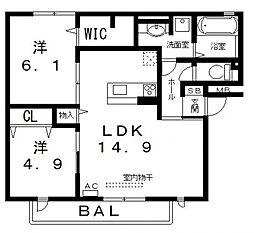 仮)D-room高美町[101号室号室]の間取り