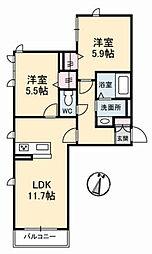 Casa Peridot (カーサ ペリドット)[1階]の間取り