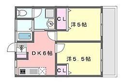 千葉県船橋市田喜野井5丁目の賃貸マンションの間取り
