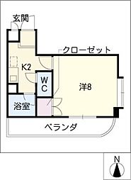 HKマンション北沢東棟[2階]の間取り