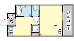 兵庫県神戸市東灘区住吉宮町1丁目の賃貸マンションの間取り