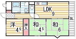 アメニティK&S PARTI[5階]の間取り