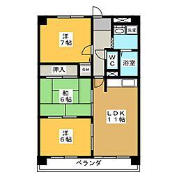 ルーミー21[1階]の間取り