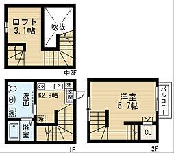 Felicity鳴海[2階]の間取り