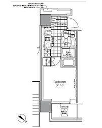 パークハビオ赤坂タワー[1401号室]の間取り
