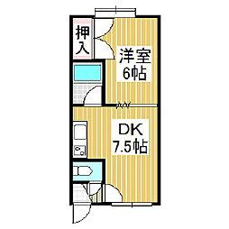 00ハイツサリーレ[1階]の間取り