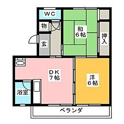 清寿荘[3階]の間取り