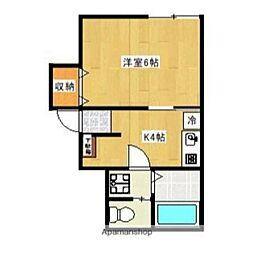 chouchou65 bt[1階]の間取り