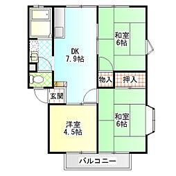 SENUMA VILLA B[101号室]の間取り