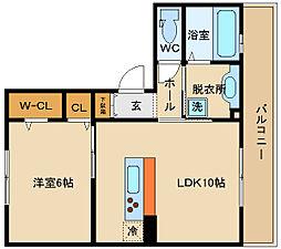 SEJOUR東太子(セジュール)[1階]の間取り