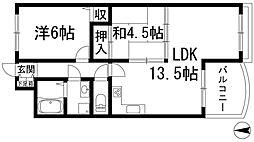 サンクレール[3階]の間取り