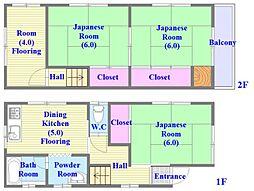 [一戸建] 兵庫県神戸市垂水区城が山1丁目 の賃貸【/】の間取り
