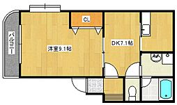 コージーコーナー223[1階]の間取り