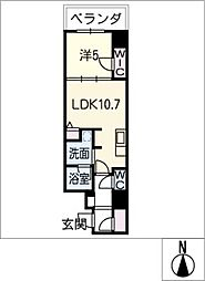 ダイワシティ大須[9階]の間取り