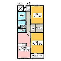 グランIII[2階]の間取り
