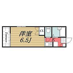 京成本線 公津の杜駅 徒歩23分の賃貸アパート 2階1Kの間取り
