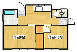 [一戸建] 静岡県三島市中 の賃貸【静岡県 / 三島市】の間取り