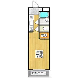 requie紫竹[205号室]の間取り