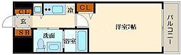 トヨトミステイプレミアムアベノテンノウジ 10階1Kの間取り