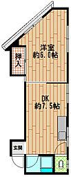 パンダ鈴蘭台[4階]の間取り