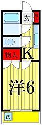 東京都足立区谷中4の賃貸マンションの間取り