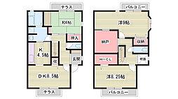 [タウンハウス] 兵庫県神戸市西区中野 の賃貸【兵庫県 / 神戸市西区】の間取り