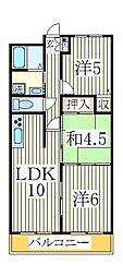 マンションフジフィールド[3階]の間取り