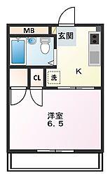 高崎マンション[502号室]の間取り
