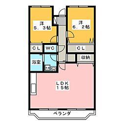 アヴァンデンスJUNII[2階]の間取り