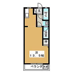 りとるわーるどムラセII B[1階]の間取り