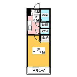 コンフォート三好[2階]の間取り