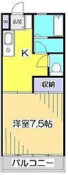 東京都小金井市貫井南町4丁目の賃貸アパートの間取り