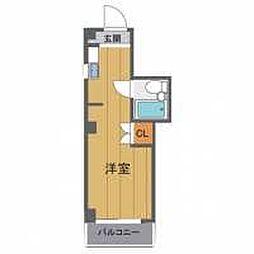 シャルム北梅田[5階]の間取り