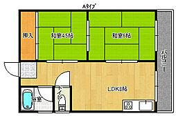 広田家マンション[3階]の間取り