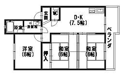 レジデンス黒田[303号室]の間取り
