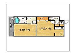 エンクレスト天神MODE[207号室]の間取り