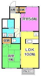東京都練馬区大泉町2丁目の賃貸アパートの間取り