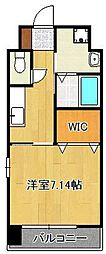 (仮称)折尾4丁目賃貸マンション 5階1Kの間取り
