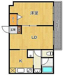 グランドシティ西宮1[4階]の間取り