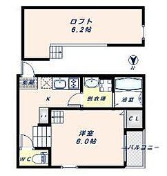 大阪府大阪市東成区小路東3丁目の賃貸アパートの間取り