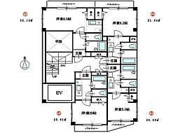 KマンションJIN[202号室]の間取り