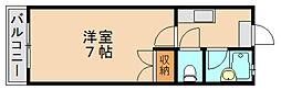 福岡県福岡市博多区諸岡6の賃貸アパートの間取り
