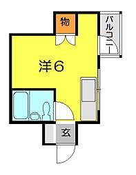 アンクレオール[2階]の間取り
