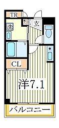 セルフィール江戸川台[3階]の間取り